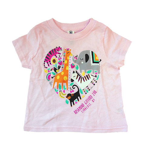 RGZ Zoo Heart Collage Infant T-shirt