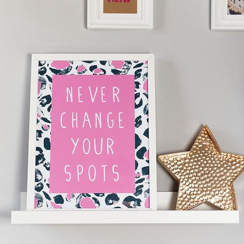 Leopard Print Kids Wall Art by Happy Paper