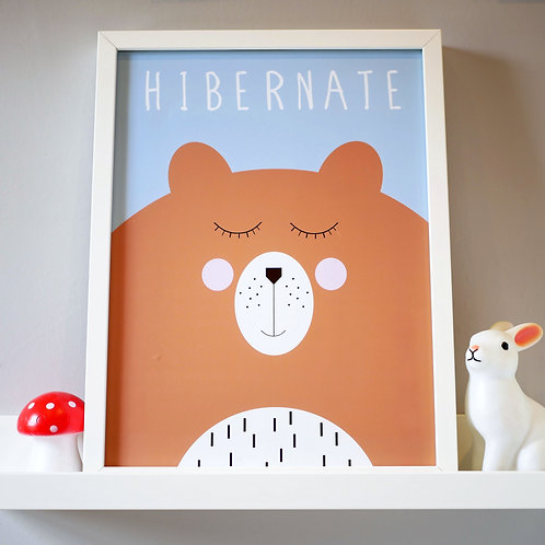 Cute Bear Kids Wall Art by Happy Paper