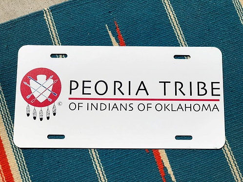 Peoria Tribe Logo License Plate