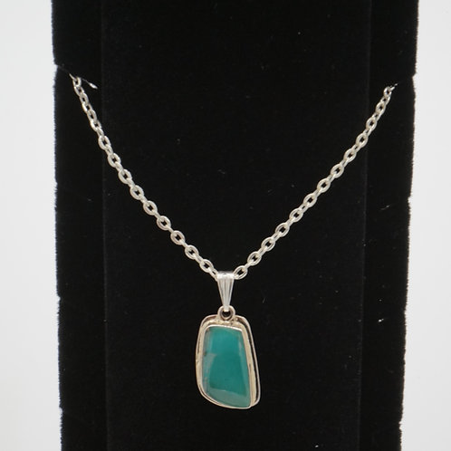 Kingman Turquoise + Sterling Silver Necklace
