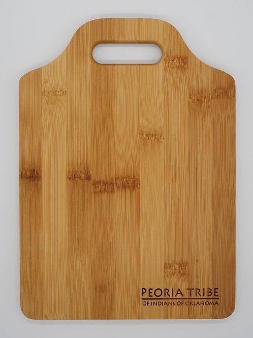 Peoria Tribe Bamboo Cutting Board