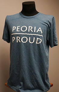 Peoria Proud + Deep Teal T-Shirt