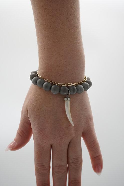Stone + Hook Bracelet
