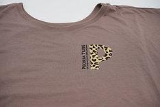 Peoria Tribe + Cheetah Flowy Draped Shirt