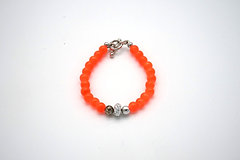 Orange Beaded Baby Bracelet