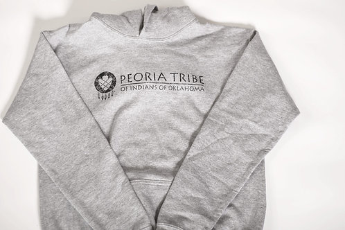 Adult Grey Hooded Sweatshirt