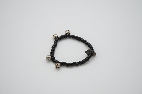 Black Bell Beaded Stretch Baby Bracelet
