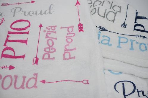 PTIO + Peoria Proud Fleece Baby Blanket