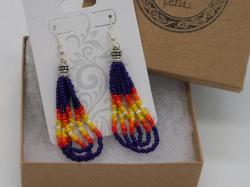 3 Loop Beaded Earrings