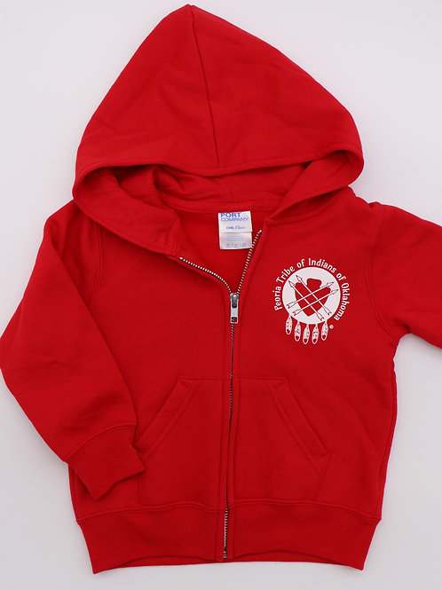 Youth Red Zip-up Hoodie