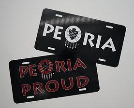 Peoria + Peoria Proud License Plate