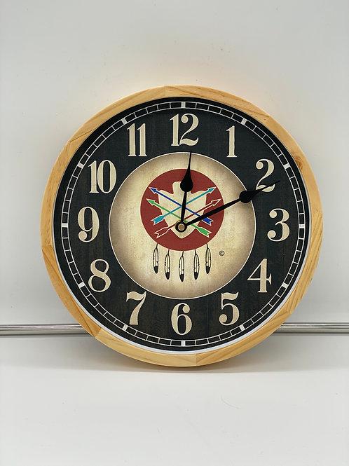 Landry Birch Framed Wall Clock