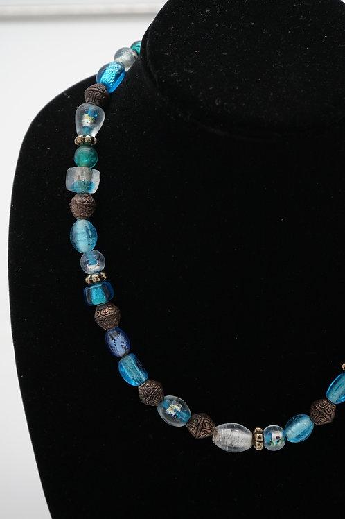 Blue + Antique Necklace