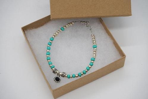 Beaded Bracelet + Charm