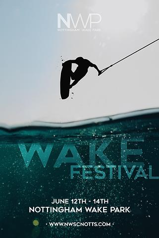festival poster design for notts wake park