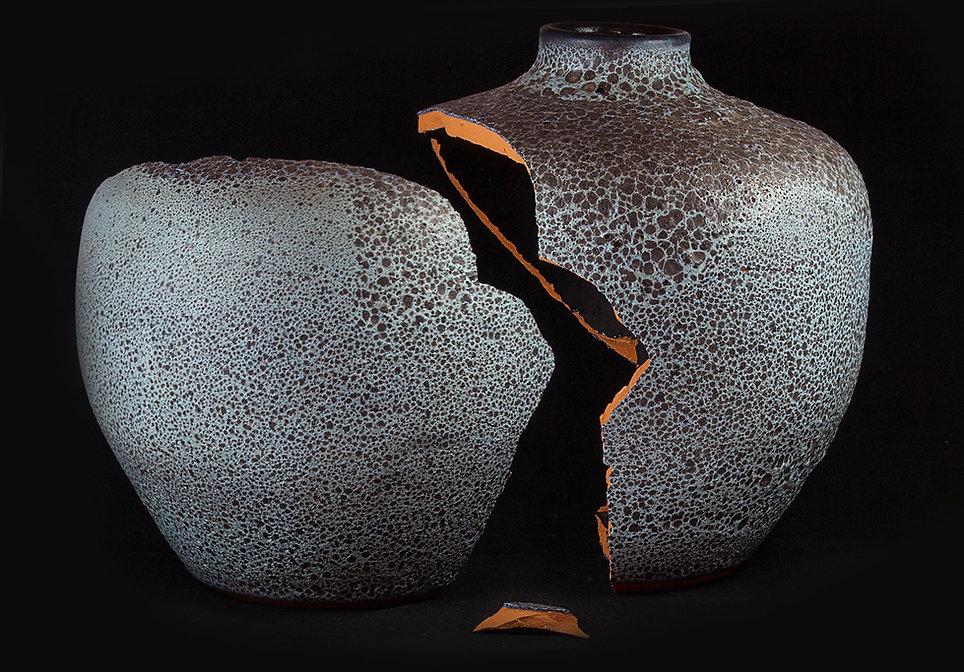 ремонт посуды, кинцуги, kintsugi, керамика, ваза, серебро, лак уруси