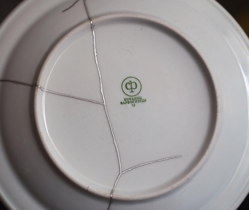 кинцуги тарелка фарфор гдр