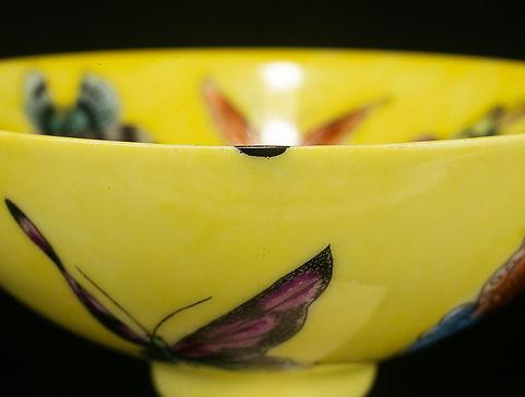 ремонт посуды, кинцуги, kintsugi, пиала, фарфор, золото, лак уруси, urushi, бабочки