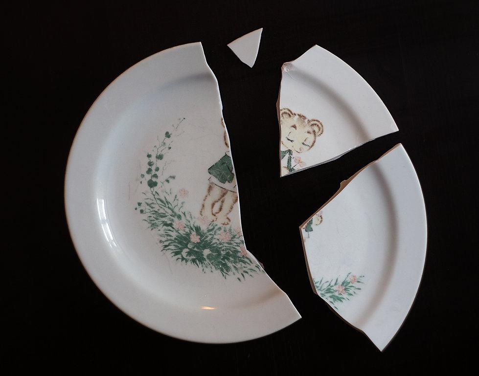 кинцуги фарфор разбился тарелка до
