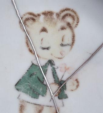 кинцуги арелка фарфор медведь