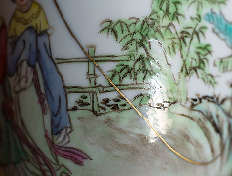 кинцуги, фарфор, ремонт, золото, антиквариат