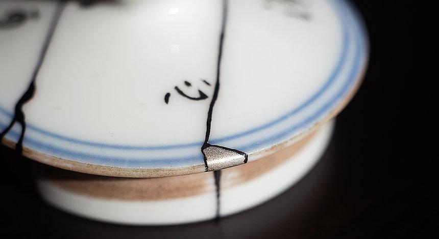 кинцуги фарфор ремонт крышка