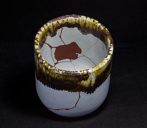 kintsugi, кинцуги, ремонт посуды, стакан, лак уруси, керамика
