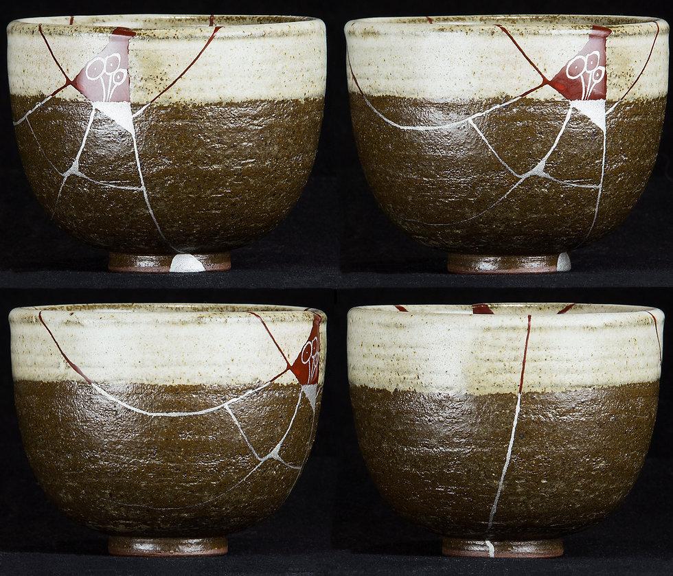 ремонт посуды, кинцуги, kintsugi, чашка, одуванчик, керамика, реставрация