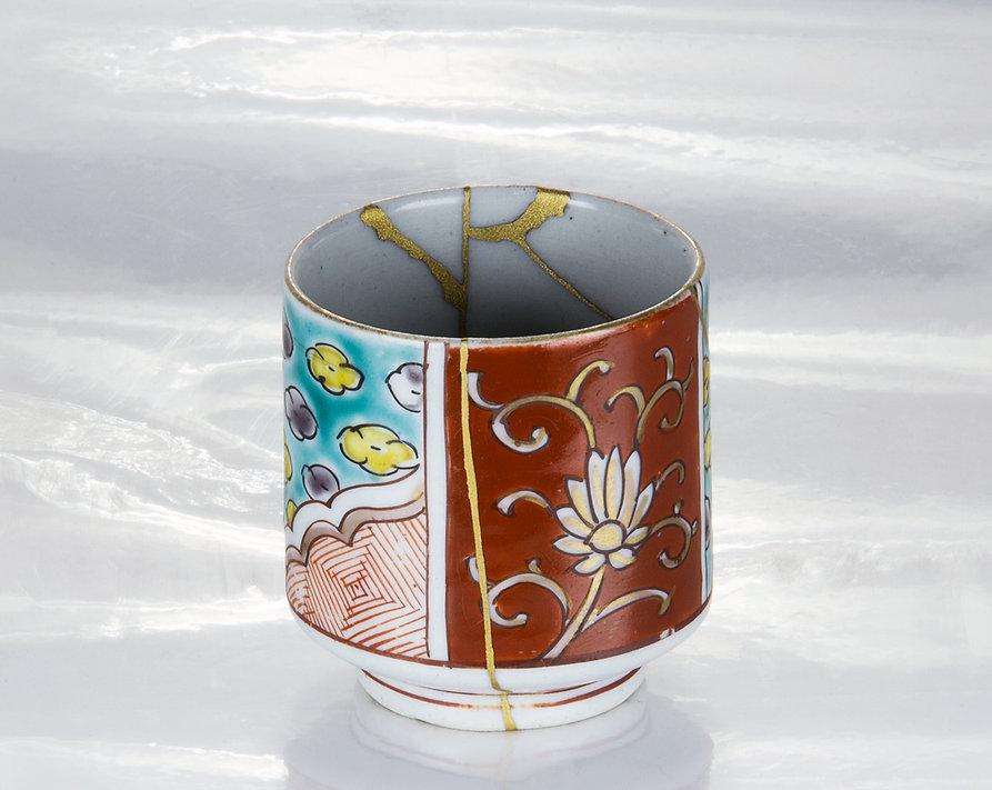 ремонт посуды, кинцуги, kintsugi, чашка, золото, антиквариат