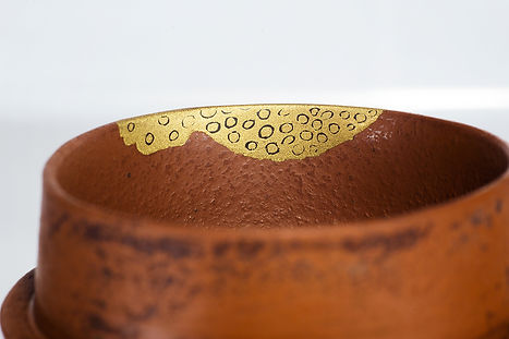 Ремонт посуды, кинцуги, чайник, kintsugi. скол, золото