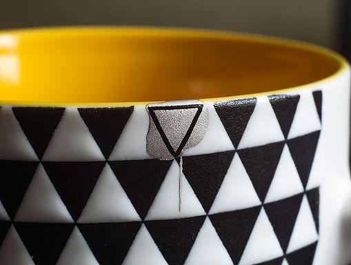 кинцуги стакан треугольник реставрация