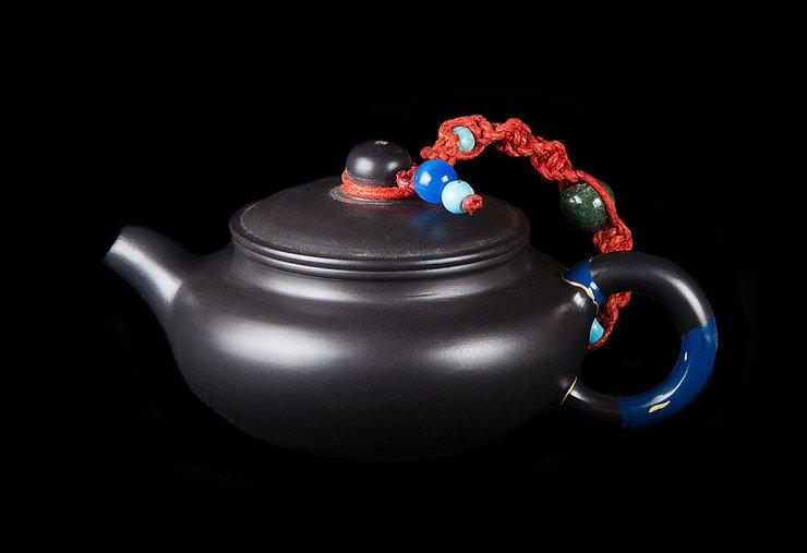 кинцуги, kintsugi, керамика, чайник, ремонт, посуда, лак уруси, мастерская, россия, синий, золото