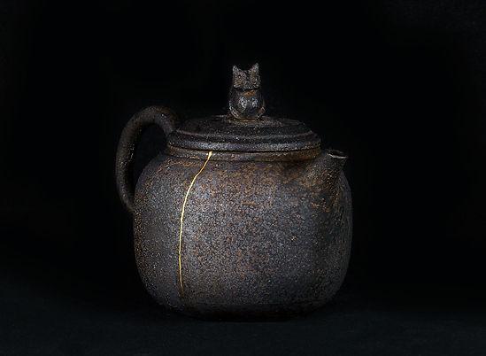 кинцуги, kintsugi, керамика, чайник, ремонт, посуда, лак уруси, мастерская, россия, котик