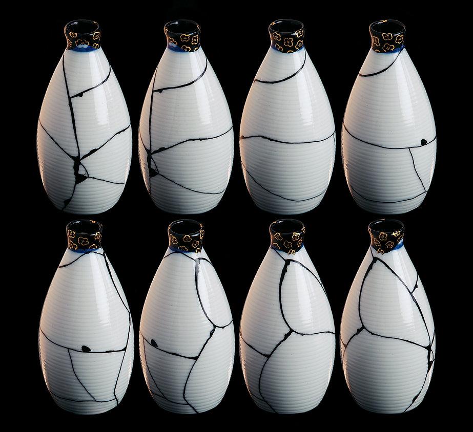 кинцуги, kintsugi, ремонт посуды, искусство, лак уруси, керамика, бутылочка для саке