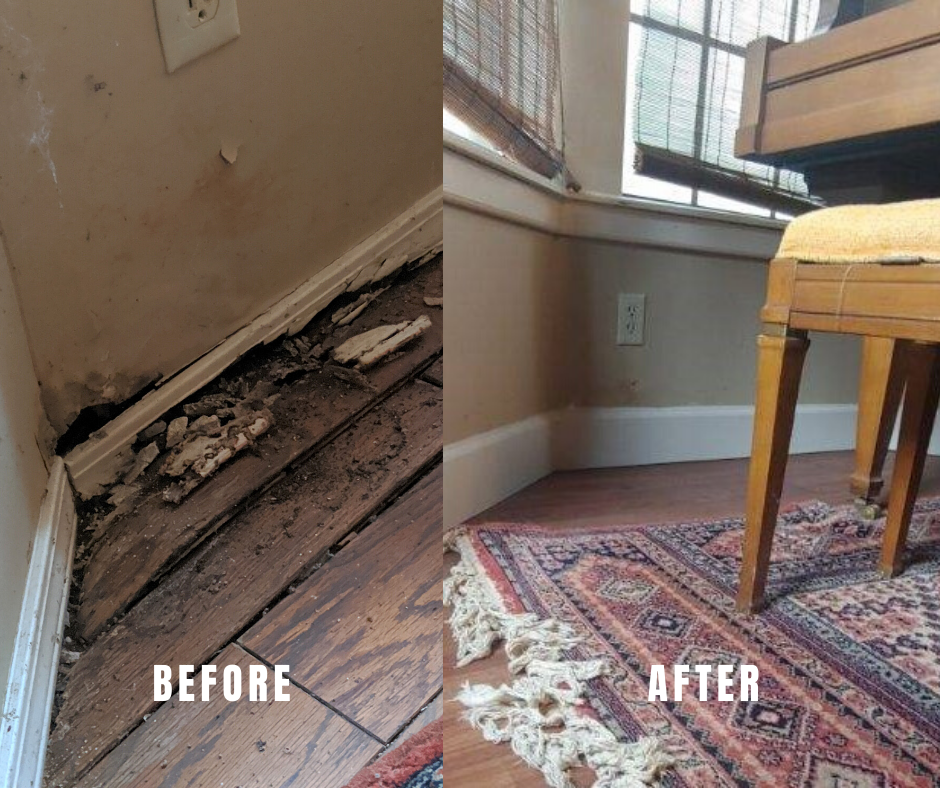 before after water damage