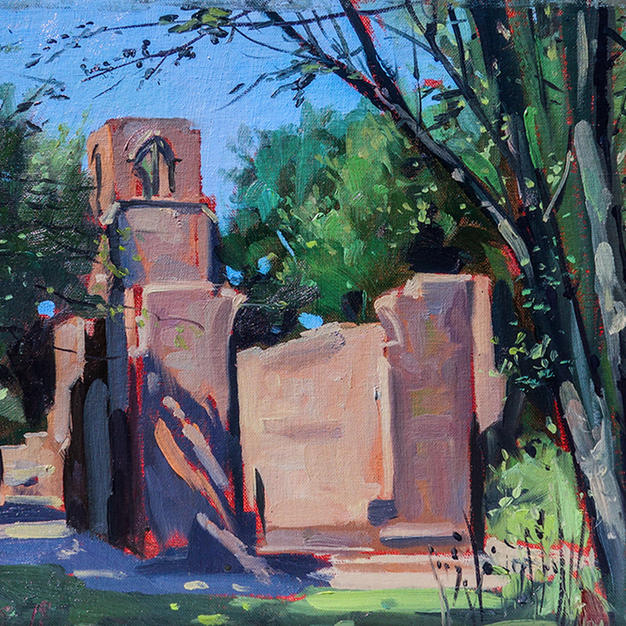 St Catherines Chapel (Lydiate Abbey) 12x16 inches