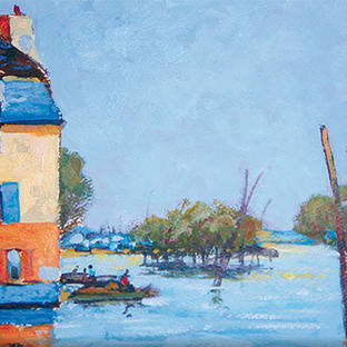 The Flood at Port-Marly after Alfred Sisley
