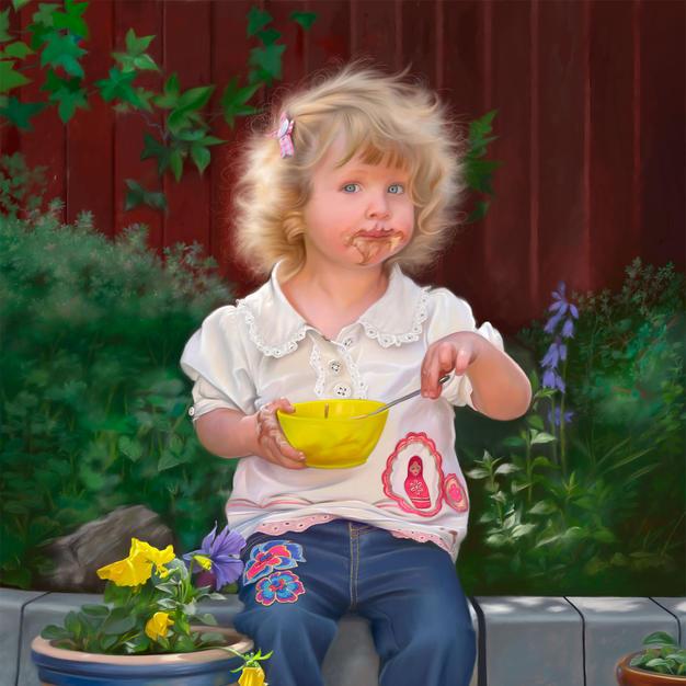 Cream of the Crop (portrait of Jessica) 30x42 cm