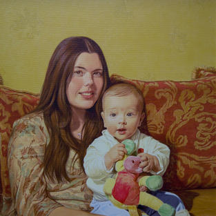 Mother and Son 20x27 inches