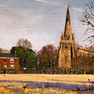 The Punch Bowl and Sefton Church 35x24 cm
