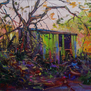 Derelict Shed 33x51cm