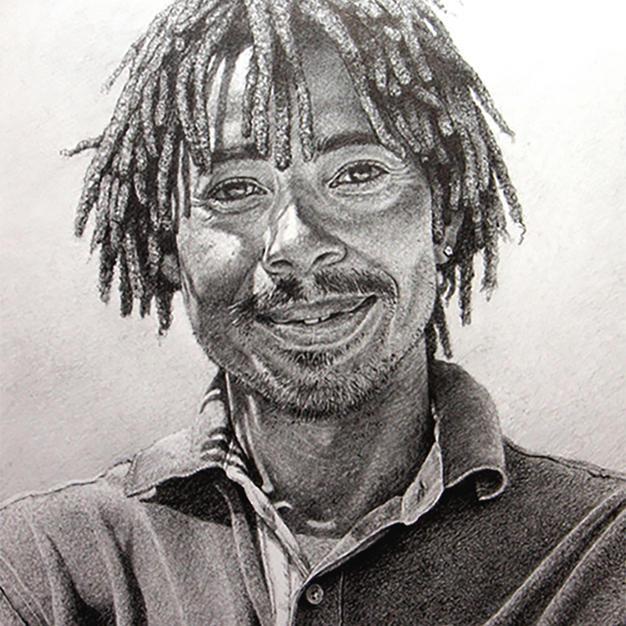 Portrait of Rufus 37 x 52 cm