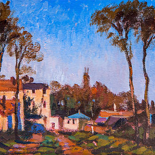 Entrance to the Village of Voisins, Yvelines, 1872 after Camille Pissarro