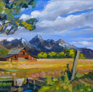 The Old Red Barn 33x52 cm