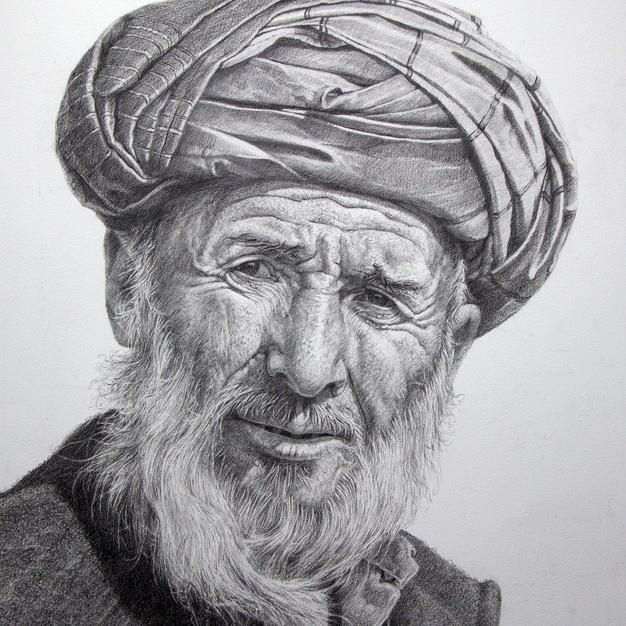 Afghan Tribesman 44 x 60 cm .jpg