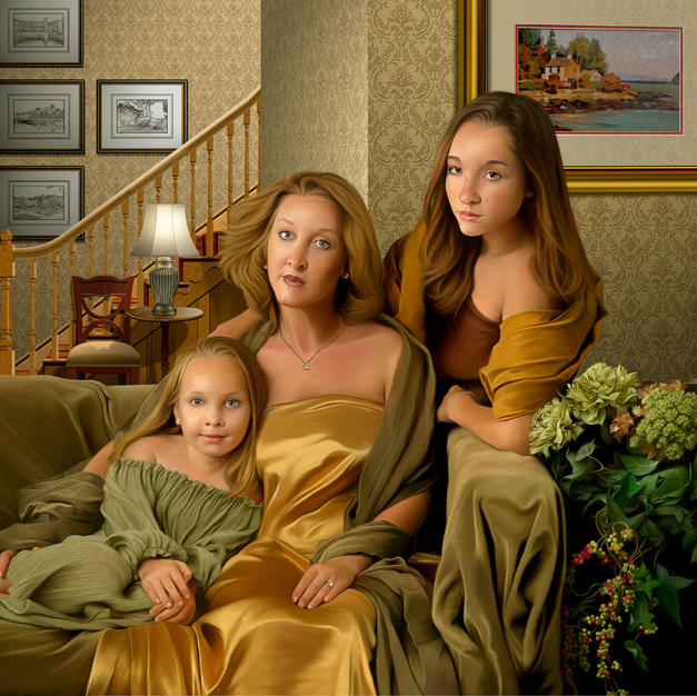 The Bordelon Family (The Next Generation) 48x60 inches