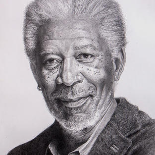 Morgan Freeman 45 x 63 cm