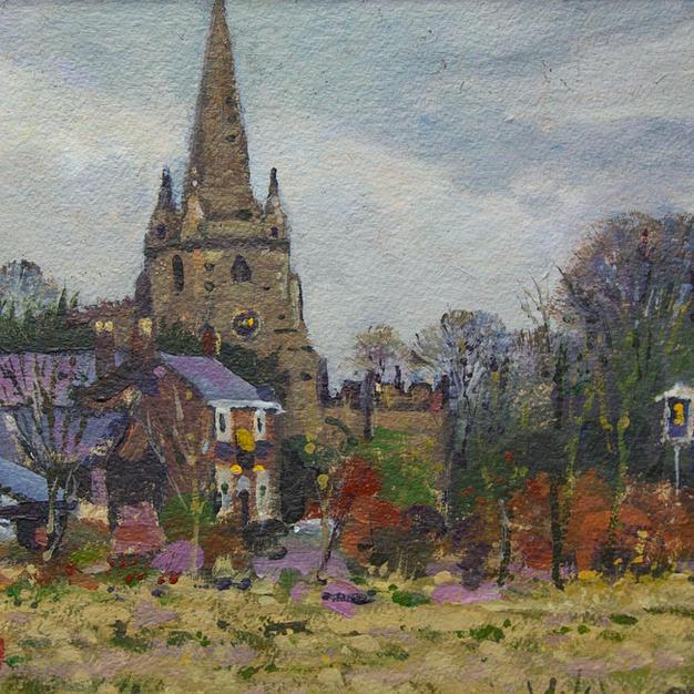 Church of St Helens (Sefton Church) 9.5x13.5 inches