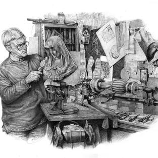 The Wood Carver Bernard Blackburn 64 x 5